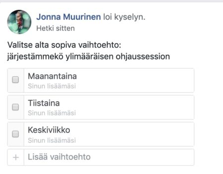 Facebook kysely